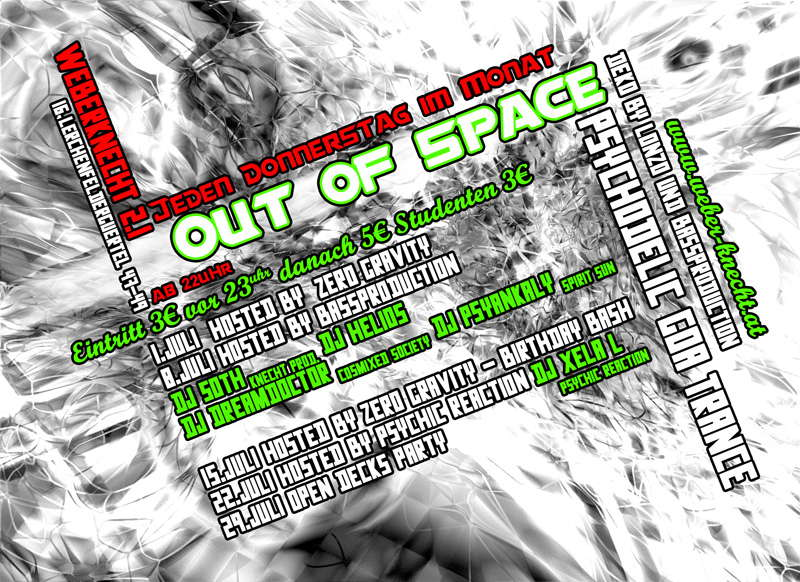 Out of Space 24 Jun '10, 22:00