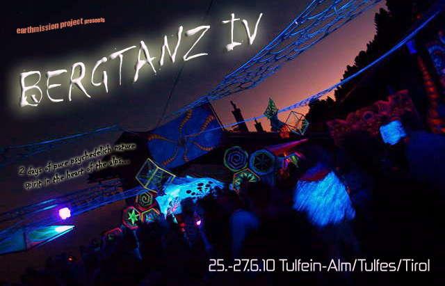 Party flyer: BERGTANZ IV 25 Jun '10, 20:00