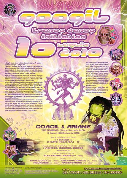 .....::::: GOAGIL TRANCE DANCE INITIATION 2010 :::::..... 10 Jul '10, 20:00