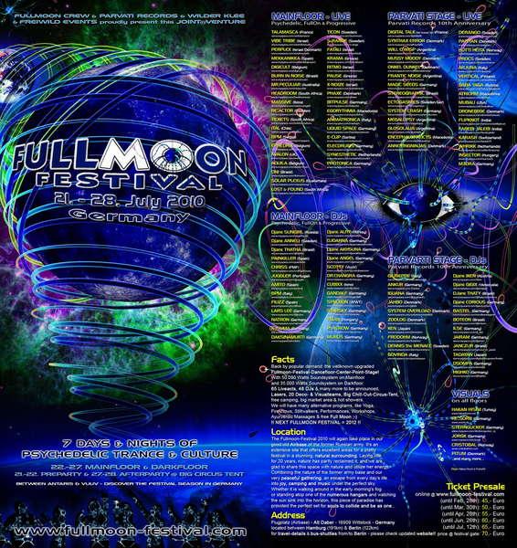 FULLMOON FESTIVAL 21-28 JULY 21 Jul '10, 22:00