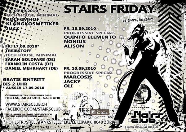 Stairs Friday Progressive 10 Sep '10, 23:00