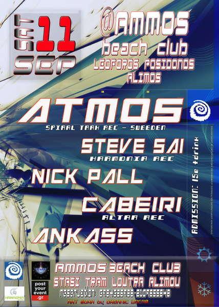 DEEP SENCES presents:ATMOS&Steve sai&NickPall&Cabeiri&Ankass 11 Sep '10, 23:30