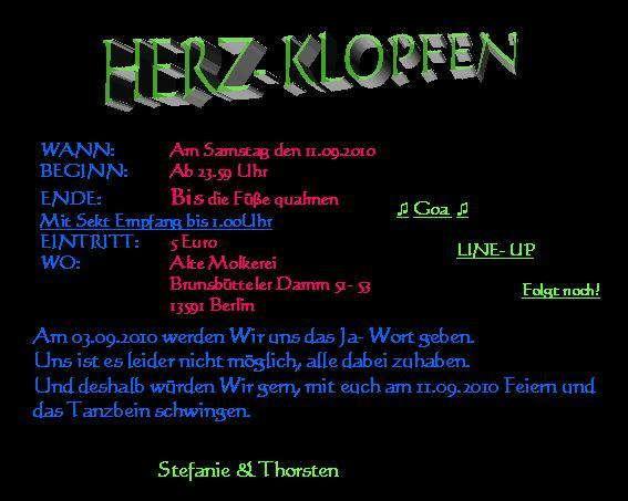 Herz-Klopfen 11 Sep '10, 23:30