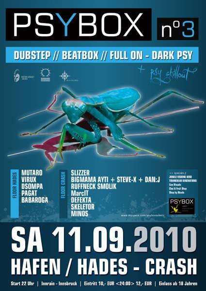 PSYBOX III Dubstep//Beatbox//FullOn-Darkpsy + Afterparty 11 Sep '10, 22:00