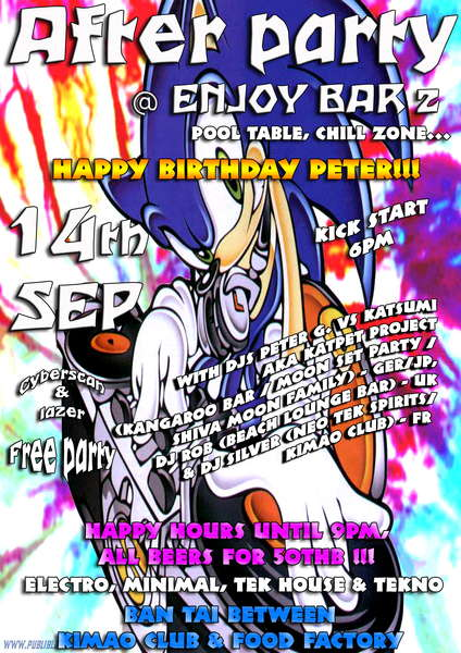 Crazy night -Birthday party- 14 Sep '10, 18:00