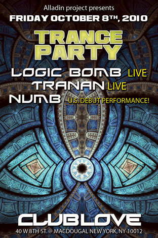 Alladin Group Presents Logic Bomb Live @ Club Love NYC! 8 Oct '10, 22:00