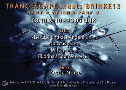 TranceScape meets Brinke13 - Rent A Friend Part 2 8 Oct '10, 23:00