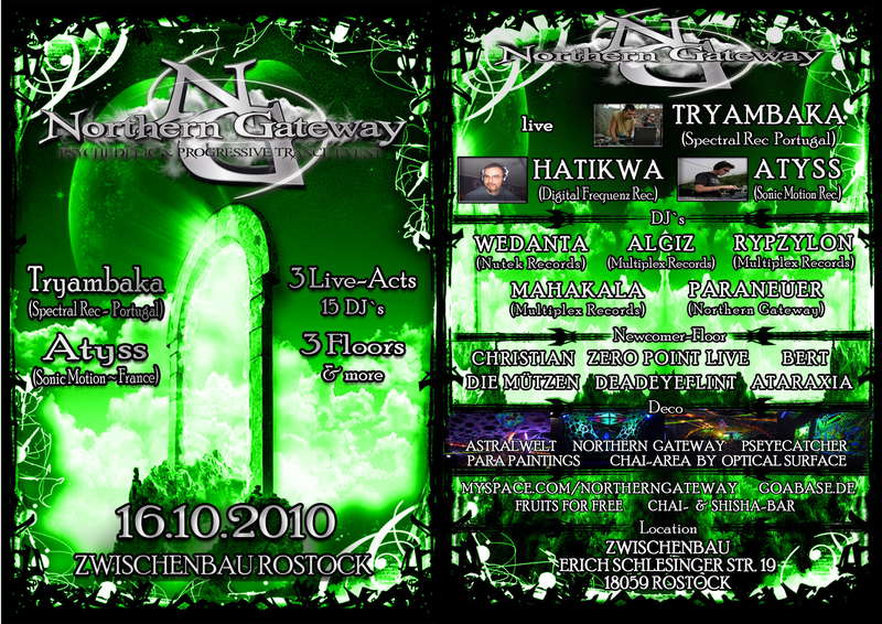 Party flyer: * NORTHERN GATEWAY * part IV on 3 FLOORS 16 Oct '10, 23:00