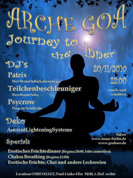 Arche Goa - Journey to the Inner 20 Nov '10, 21:00