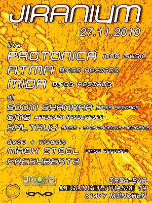 Party flyer: jiranium 27 Nov '10, 23:00