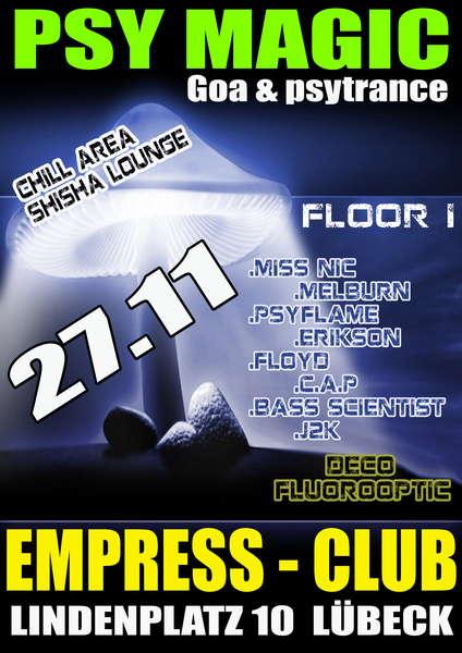 Party flyer: Psy Magic 27 Nov '10, 22:00