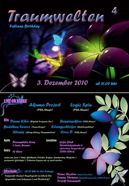 Party flyer: Traumwelten llll (Birthday) 3 Dec '10, 21:00