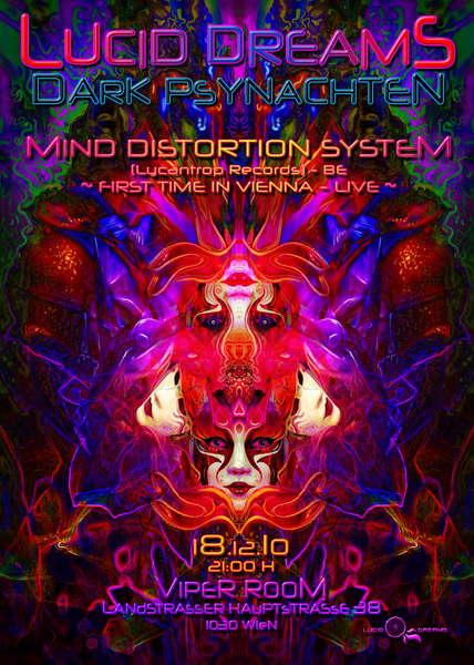 Party flyer: *LUCID DREAMS* DARK PSYNACHTEN - MIND DISTORTION SYSTEM 18 Dec '10, 21:00