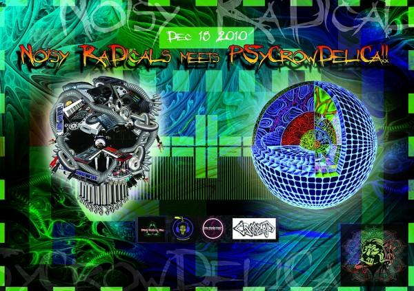"""Noisy Radicals & Psycrowdelica presents """" A Dotty Day Out """" 18 Dec '10, 22:00"""