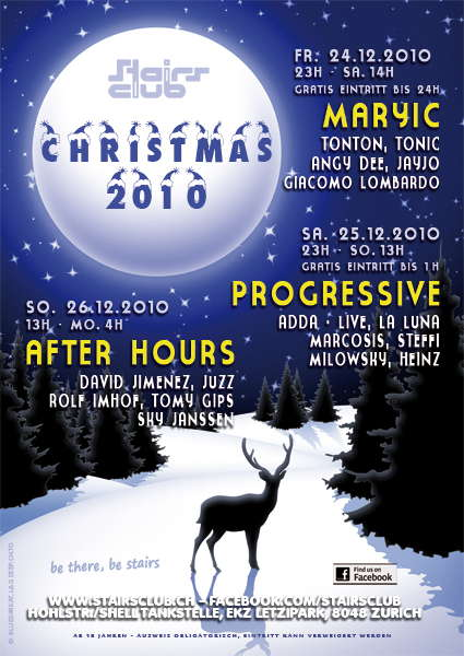 Progressive Christmas at Stairs Club 25 Dec '10, 23:00