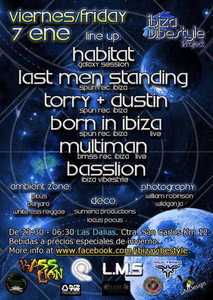 Ibiza VibeStile Project @ Las Dalias 7 Jan '11, 23:30