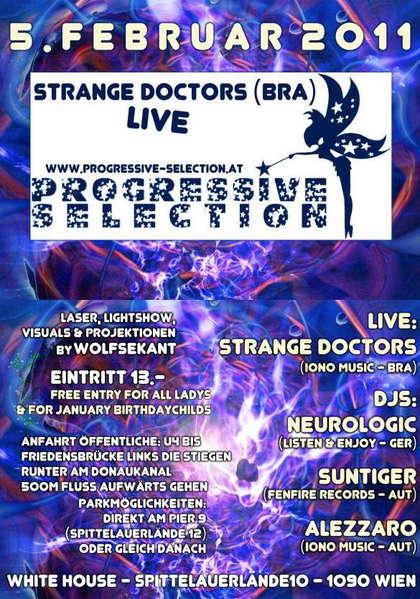 PROGRESSIVE SELECTION with STRANGE DOCTORS LIVE 5 Feb '11, 22:00