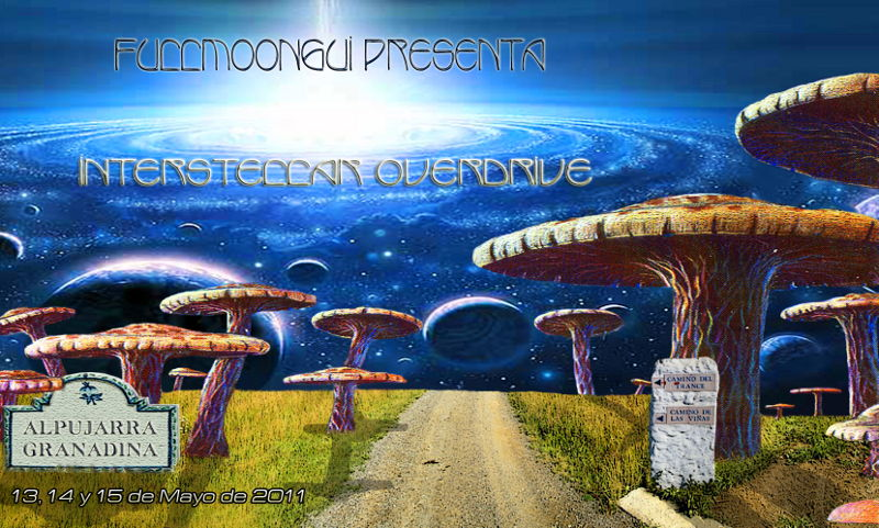 Party flyer: Fullmoongui - Interstellar overdrive 13 May '11, 22:00