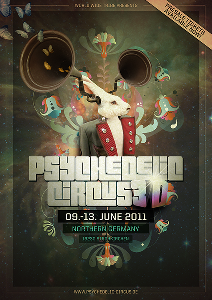 """Psychedelic Circus 3D """"first 3D festival in germany"""" 9 Jun '11, 11:00"""