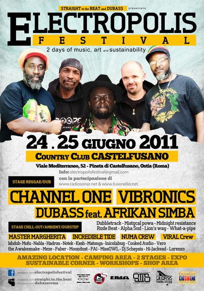 Party flyer: ELECTROPOLIS FESTIVAL- MASTER MARGHERITA ( PEAK REC. ) 24 Jun '11, 14:00