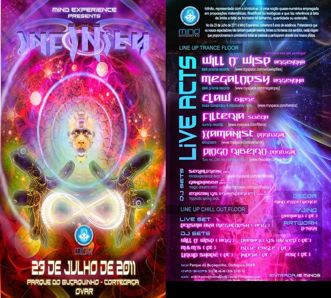 Party flyer: INFINITY 23 Jul '11, 23:30