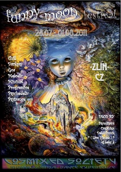 Party flyer: Funny Moon Festival 2011 28 Jul '11, 20:00