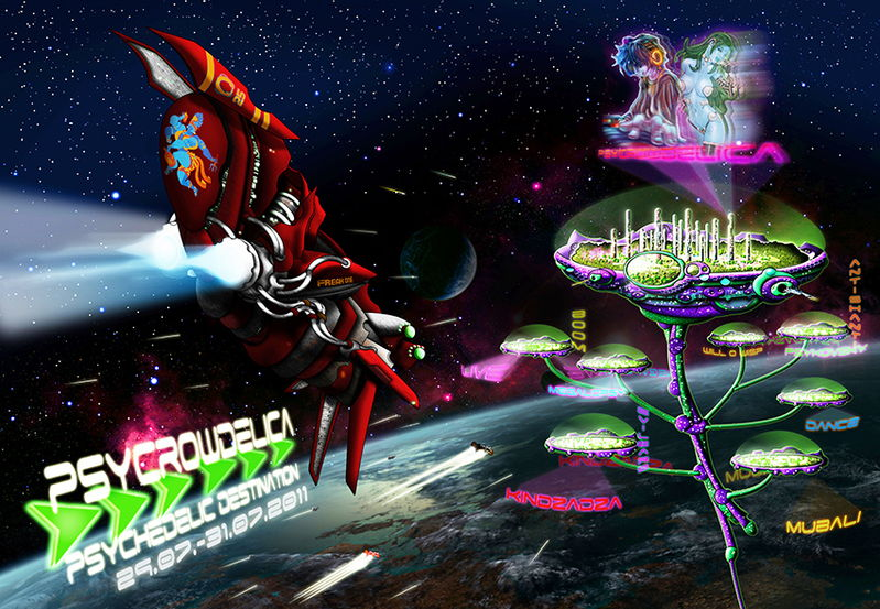 Party flyer: PsyCrowDelica --- Psychedelic Destination 29 Jul '11, 08:00