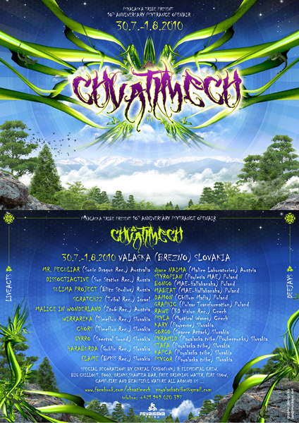 Party flyer: CHVATIMECH-OA-10TH mountainsmission 30 Jul '10, 22:00