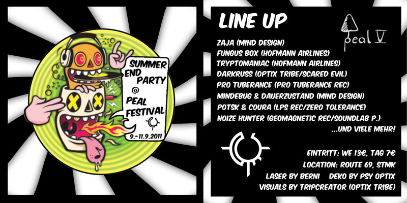 OPTIX TRIBE SUMMER END PARTY @ PEAL FESTIVAL 9 Sep '11, 23:30