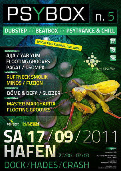 PSYBOX V proudly presents PEAK RECORDS LABEL PARTY with AJJA 17 Sep '11, 22:00