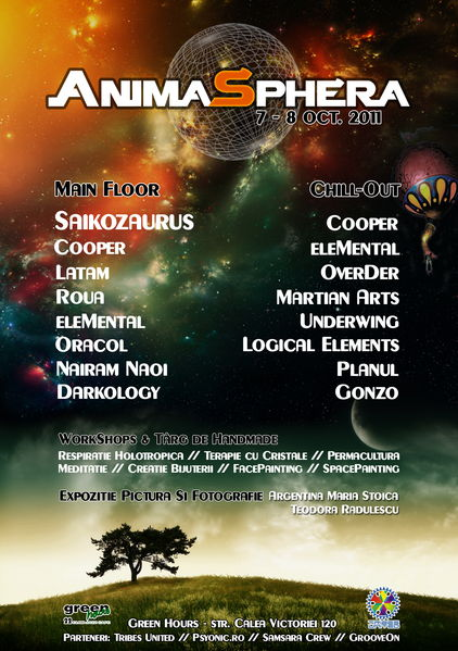 Party flyer: AnimaSphera 7 Oct '11, 22:00