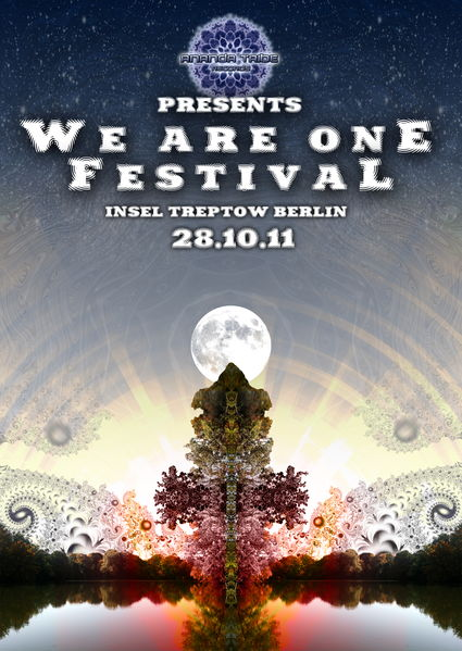 Party flyer: WE ARE ONE FESTIVAL 2011 : 3D Version (by Ananda Tribe Rec.) 28 Oct '11, 22:00