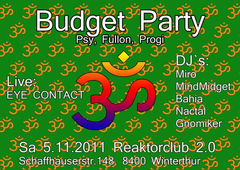 Budget Party 5 Nov '11, 23:00