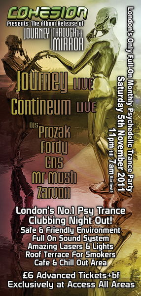 Cohesion Presents: The Release of Journey's 2nd Album 5 Nov '11, 23:00