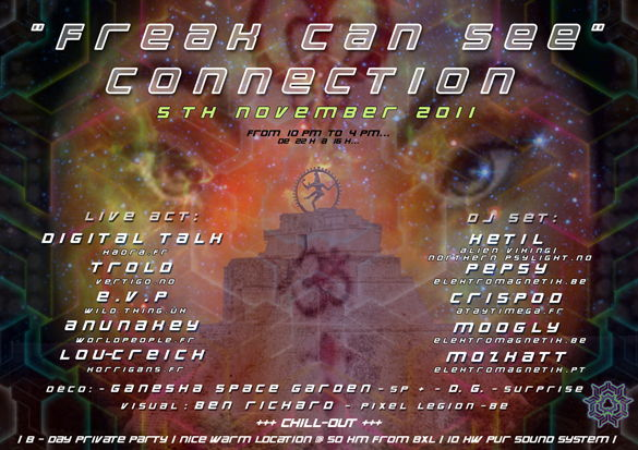 FREAK CAN SEE CONNECTIONS 5 Nov '11, 22:00