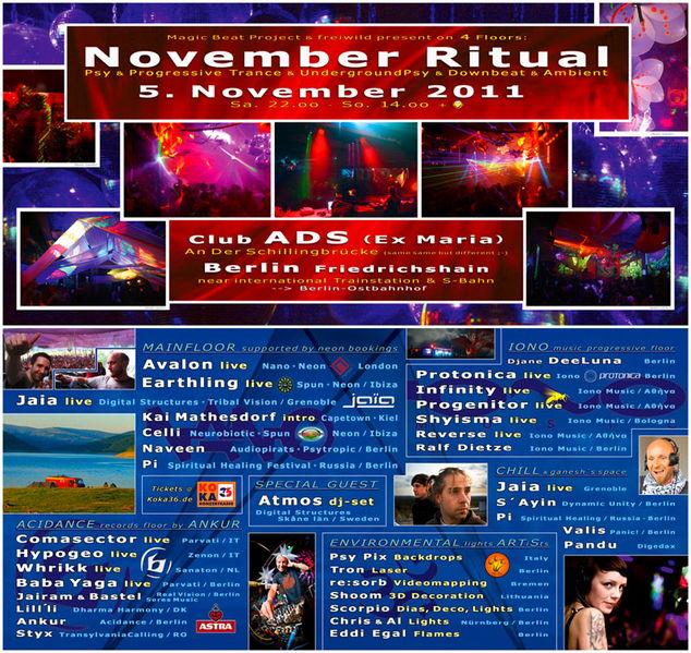 November Ritual 2011 --> 4 Floors!! 5 Nov '11, 22:00