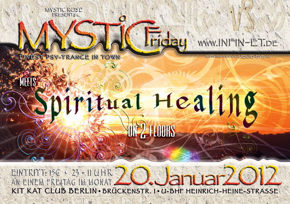 Party flyer: Mystic Friday meets Spiritual Healing 20 Jan '12, 23:00