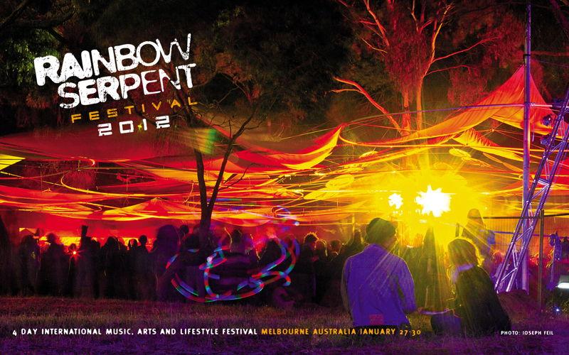 Party flyer: RAINBOW SERPENT Festival 2012 27 Jan '12, 12:00