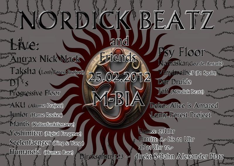 Nordick Beatz meets Friends 25 Feb '12, 23:00