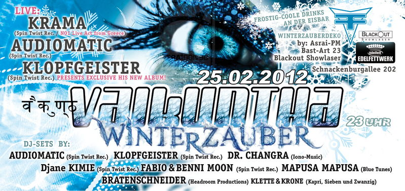 Party flyer: VAIKUNTHA - Winterzauber 25 Feb '12, 23:00