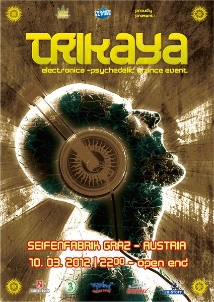 Party flyer: T R I K A Y A # 3 with PAN PAPASON 10 Mar '12, 22:00