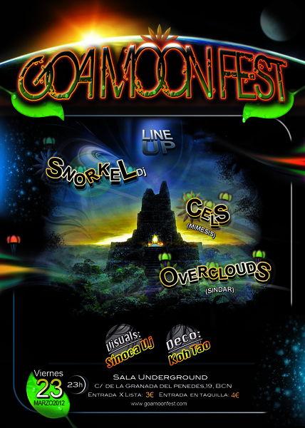 Party flyer: Goa Moon Fest 23 Mar '12, 23:00
