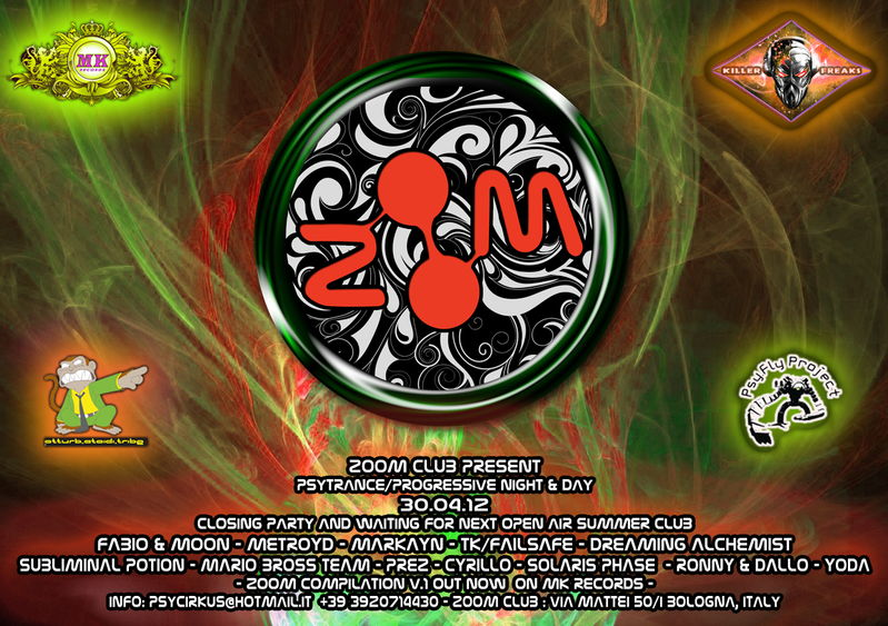 PSYCHEDELIK EVOLUTION -MK B-DAY -FABIO & MOON LIVE SPINTWIST 30 Apr '12, 23:00