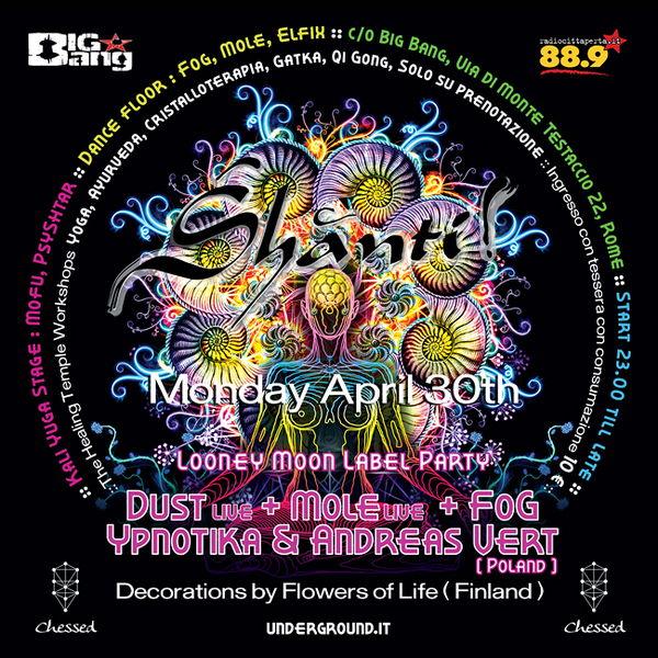Shanti ! LOONEY MOON RECORDS + FLOWERS OF LIFE Deco 30 Apr '12, 23:30