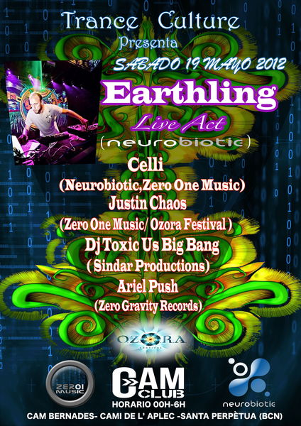 Trance Culture --Earthling Live 19 May '12, 23:00