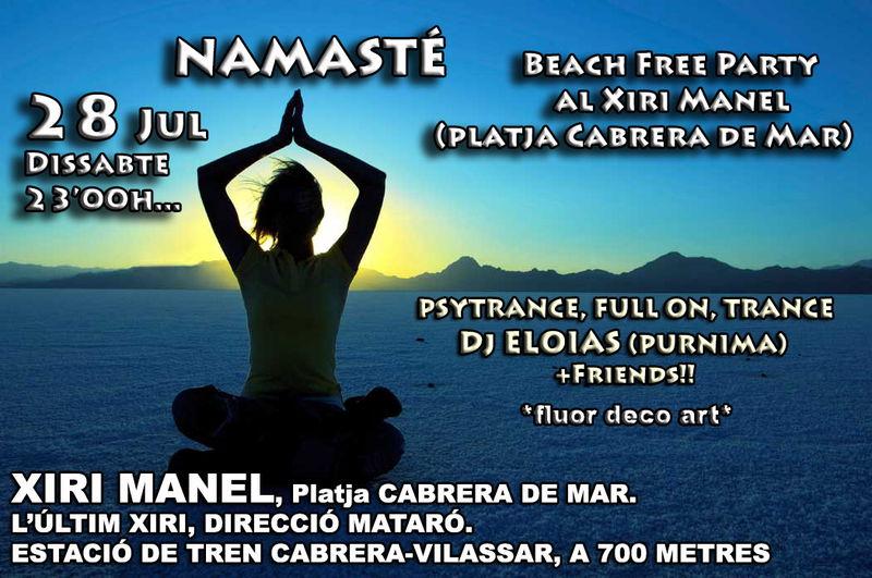 NAMASTÉ @ Xiri Manel - Playa de Cabrera 28 Jul '12, 22:00