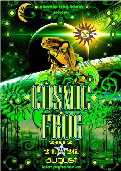 Party flyer: COSMIC FROG 2012 24 Aug '12, 17:00