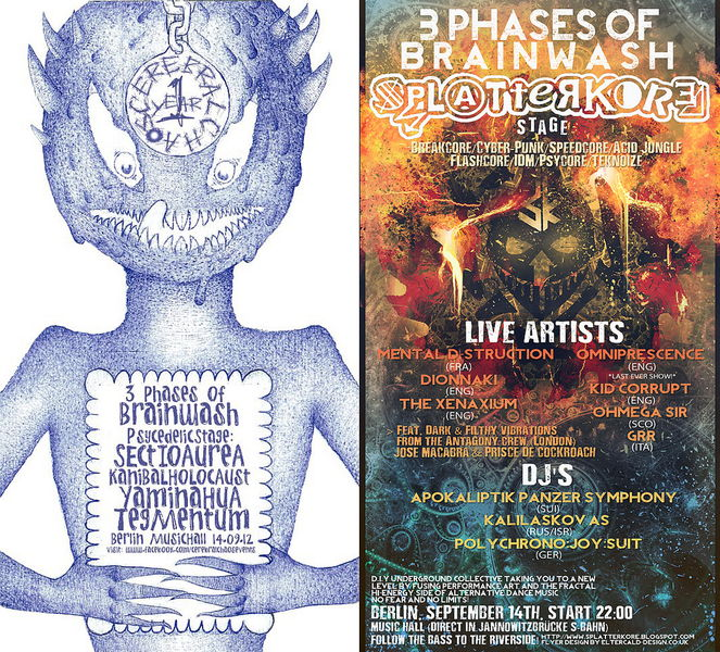CEREBRALノウCHAOS presents 3 PHASES OF BRAINWASH 14 Sep '12, 22:00