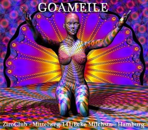 Party flyer: < GOAMEILE > präsentiert < UP IN SPACE > 14 Sep '12, 22:00