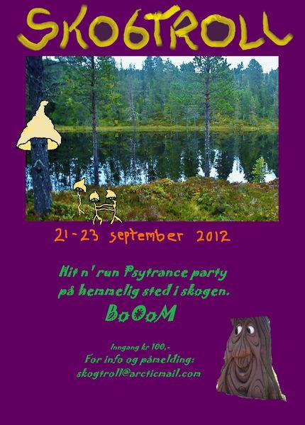 Party flyer: SKOGTROLL 21 Sep '12, 20:00